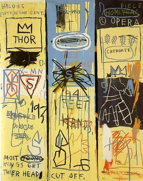 MOST YOUNG KINGS GET THEIR HEAD CUT OFF: Jay-Z on Jean-Michel Basquiat's Charles The First.